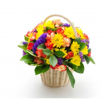 Cesta de flores Cuenca